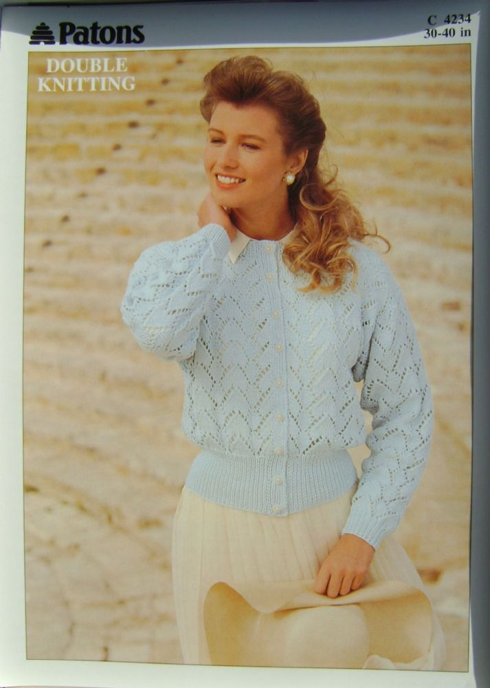 Patons Knitting Pattern 4234